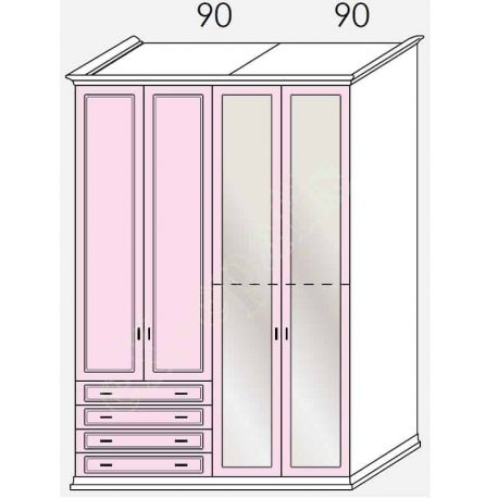 Wardrobe Arcadia Colombini R30.74A