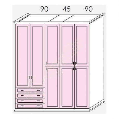 Wardrobe Arcadia Colombini R30.88B